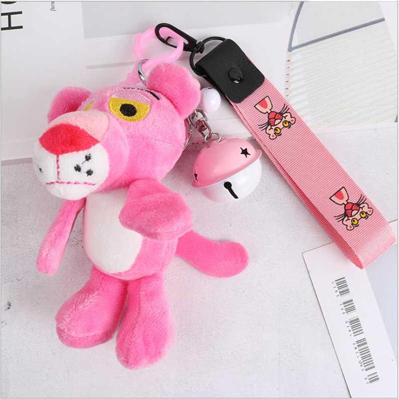 Милый розовый Леопардовый мех брелок с помпоном искусственный мех мяч брелок пушистый помпон брелок сумка кольцо для колец с шармами Llaveros Chaveiros