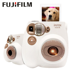 Fujifilm Instax Mini7c Camera Film Auto Focus with Wrist Strap for Travel Birthday Christmas New Year Festival Kids Girl Gift