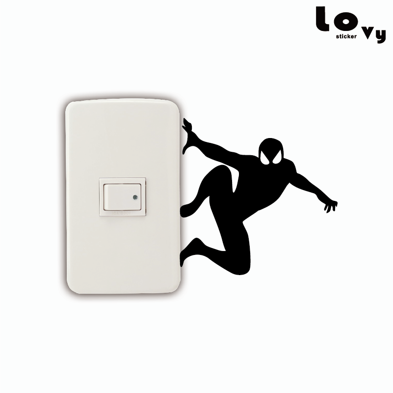 Spider-Man Marvel Light Switch Vinyl Decal Sticker Spider Man