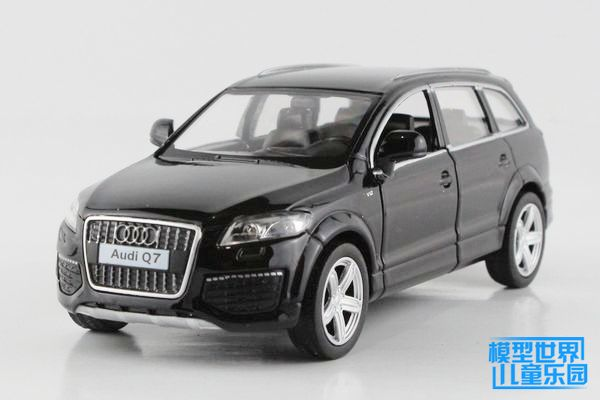 1 PC 13.5cm Yu feng alloy simulation model car toys 1:36 Audi Q7 back in the car double open the door gifts