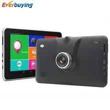 "7 ""Táctil de Coches DVR GPS navigator Android FHD 1080 P dvr Registrador de la Cámara de navegación gps mapas de por vida Bluetooth MT8127 Quad-Core"