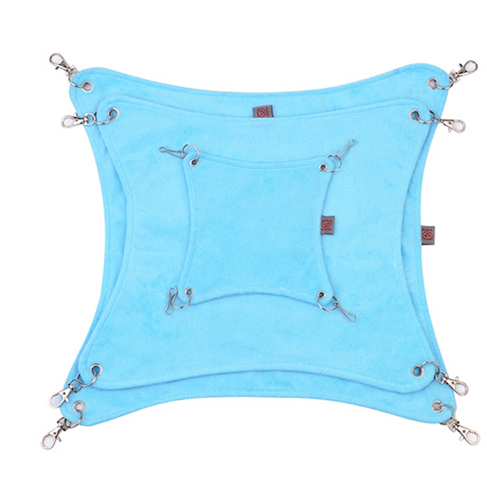 2018 Hammock Pet Hamster Rat Parrot Ferret Hamster Hanging Bed Cushion Accessories For Hamsters House Cage Bird Sleeping WHB0817