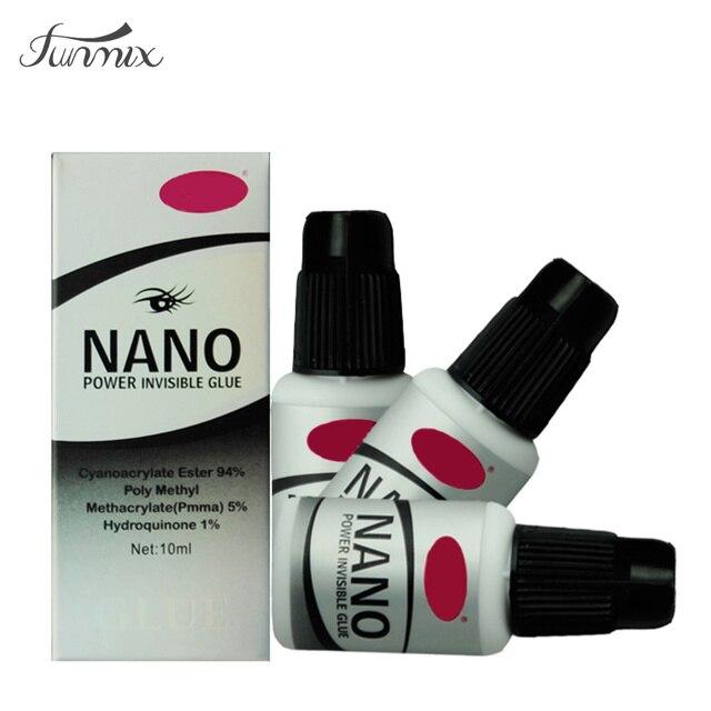 Новый 10 мл Nano Мощный Невидимый Ресниц Клей Без Запаха Нет Токсичных Низкий Стимулировать Развести Клей Для Ресниц Наращивание Ресниц инструменты