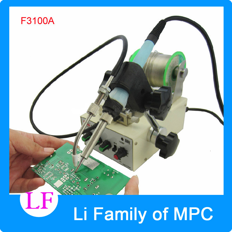 Automatic tin feeding machine constant temperature soldering iron Teclast iron F3100A multi-function foot soldering machine 1pcs automatic soldering iron machine tin feeding constant temperature soldering iron pedal soldering machine fixed type iron