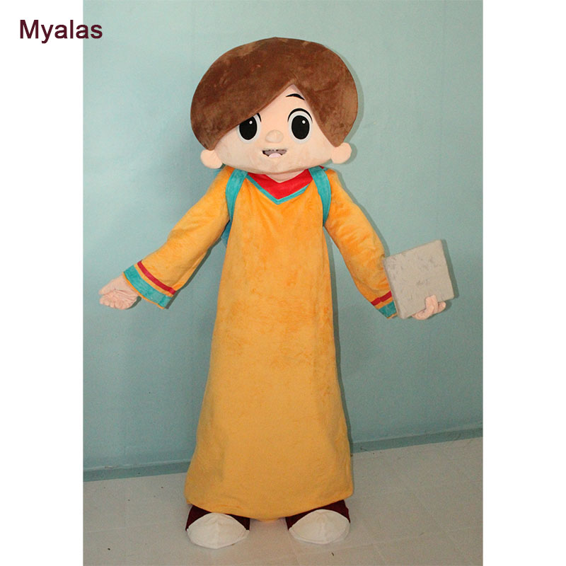 Students Style Mascot Costume Yellow Mascot Costume And Halloween Costume Customize For Adult Student Costume