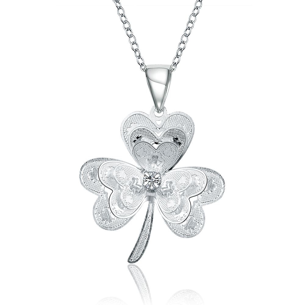 2017 925sterling silver hollow flower design Butterfly pendant necklace for women wedding part fine fashion trendy jewerly