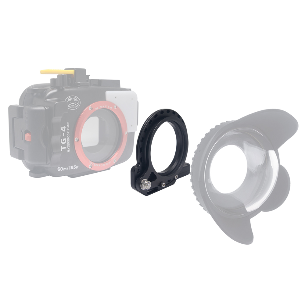 Mcoplus 67mm Flip adapter Underwater housings Filter Ring Mount Adapter Clamp for RX100 A6000 S110 G15 G16 TG5 TG4 TG-5 TG-4 lg 1 lg1 led light quide macro ring auxiliary flash for olympus tough tg 1 tg 2 tg 3 tg 4 tg 5 tg1 tg2 tg3 tg4 tg5 camera