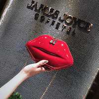 2019 new girl red creative shoulder bag personality sexy lips wild Messenger bag funny women chain bag suitable for party