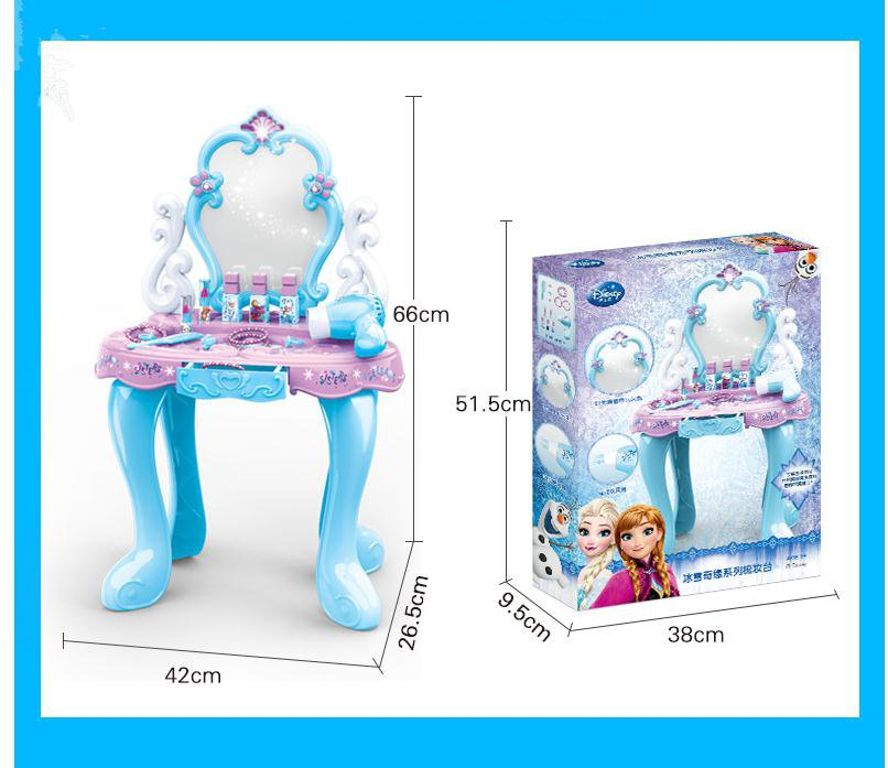 2019 New Pretend play make-up toys Annaelsa Princess Girl toys juguetes Party Simulation Dressing Table Children Christmas gift