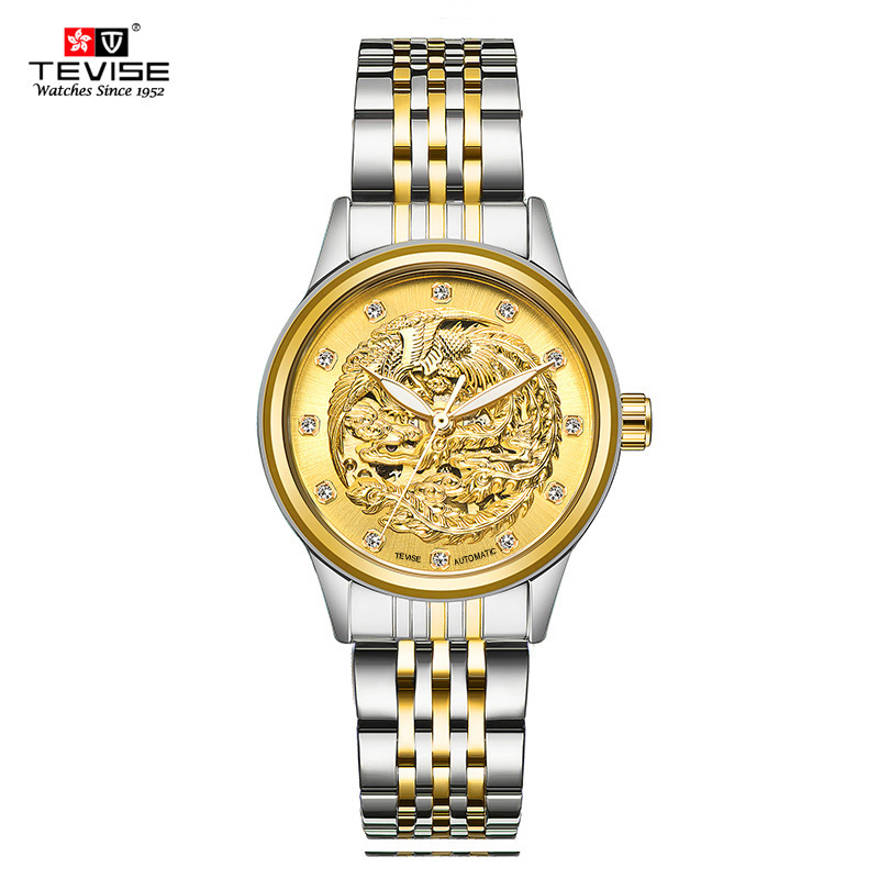 TEVISE 2018 Top Brand Luxury Hot Sale Automatic Ladies Watch Steel Watchband Women Mechanical Watches все цены