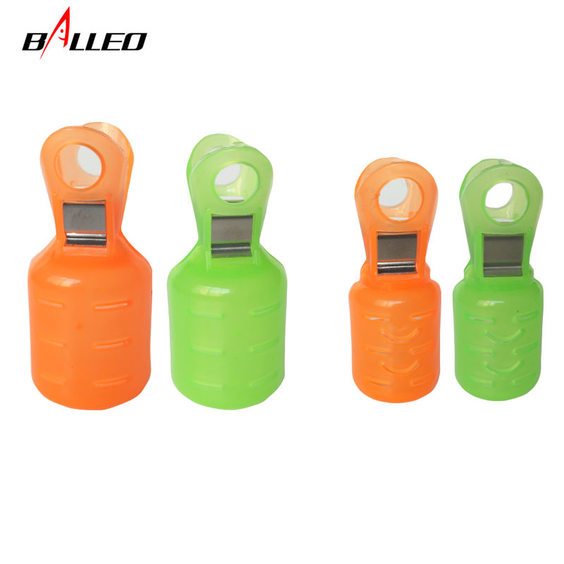 Balleo 6pcs/Plastic Hook Cover Wood Shrimp Cover Squid Hook Cover Umbrella Hook Safety Clamp Fishing Tackle