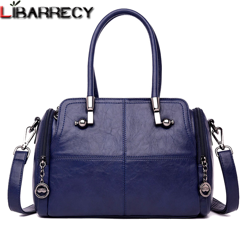 Famous Brand Women Handbags Soft Leather Messenger Crossbody Bags for Lady Large Capacity Tote Bag Designer Luxury Shoulder Bag sgarr soft leather handbags women famous brands luxury bag designer quality casual lady messenger bag female large shoulder bags