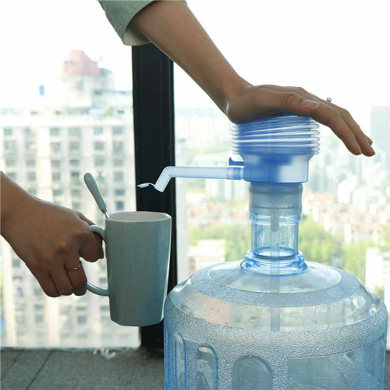 Practical Hand Press Pump Drinking Water Bucket Dispenser Jug Hand Press Pump