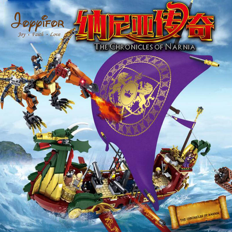 Joyyifor 1299pcs Chronicles Of Narnia Boat Dragon Adventure Pirate ship compatible LegoINGlys Building Block Minifigure Toys