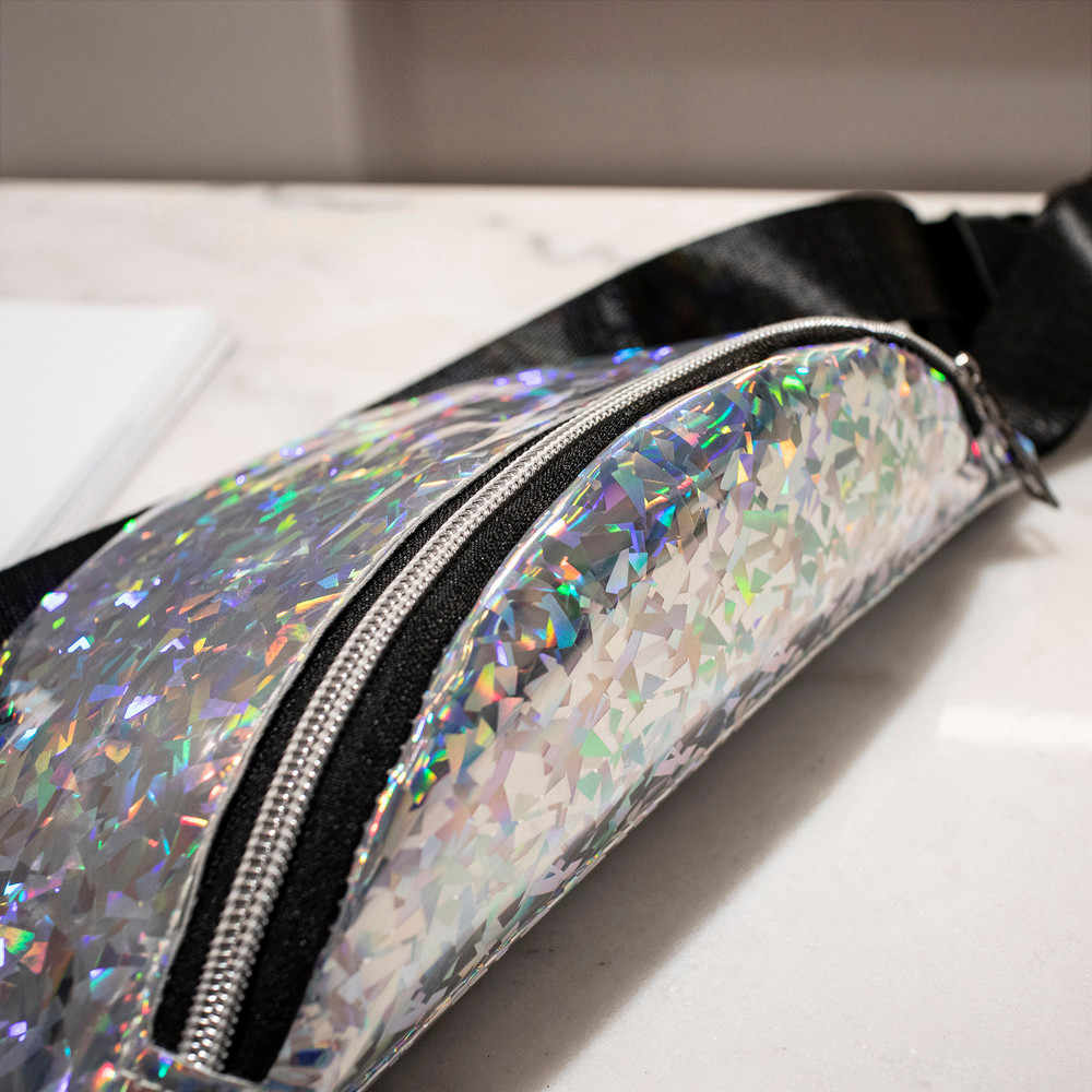 belt bag Fashion Neutral gender design Laser Beach multi color pattern Cross body type Chest Bag rionera mujer #