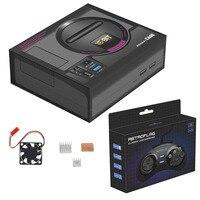 Retroflag MEGAPi Case SEGA MEGA MD Style Retropie Game Console for Raspberry Pi 3 Model B+(plus)/3B, Case with Fan Heatsinks Kit