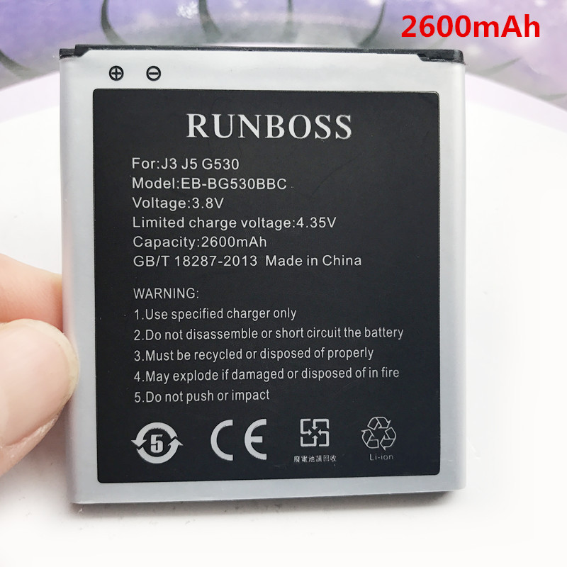 Runboss Batterie G5308W Für Samsung Galaxy J3 J320 J320FN J5 J500 J500FN Groß Prime G530 G530H G530F Duos Phone Batterie 2600 mAh