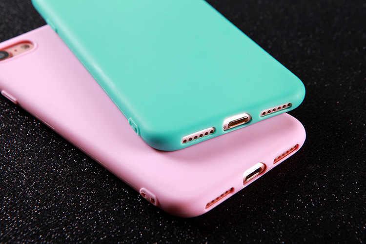 Nieuwe Plain Kleuren Silicone Soft TPU Phone Case Matte Case Zachte Hoge Flexibiliteit Back Cover Voor iphone 6 6s 7 7 Plus 8 8 Plus X