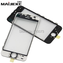 10 PCS 3 in 1 iPhone 5S Front Screen Outer Glass with Frame OCA