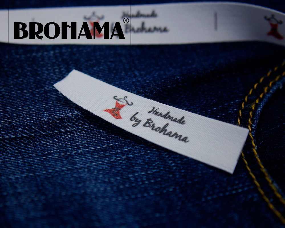 เย็บป้าย/custom ยี่ห้อป้าย, ป้ายเสื้อผ้า, ทำด้วยมือ, ผ้าฝ้าย 100%, การพิมพ์คุณภาพสูง (MD0019)