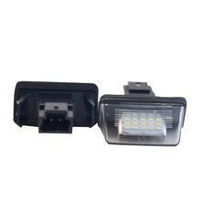 цена на 1 Pair Car LED Number License Plate Lights No Error Free For PEUGEOT 206 207 306 307 406 407 For CITROEN C3 C4 C5 Accessories