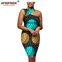 2019 african dresses for women dress party pencil summer casual sexy dashiki print ankara AFRIPRIDE A1925035