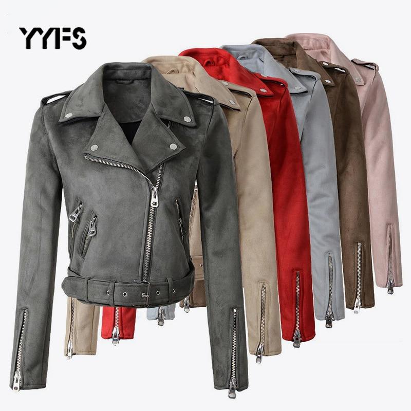Faux couro pu camurça jaquetas curtas zíper da motocicleta das mulheres casaco 2019 moda motociclista jaquetas plus size