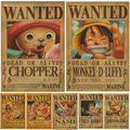 1 pcs Home Decor Wall Stickers Vintage Paper Anime Poster One Piece Posters Luffy Wanted
