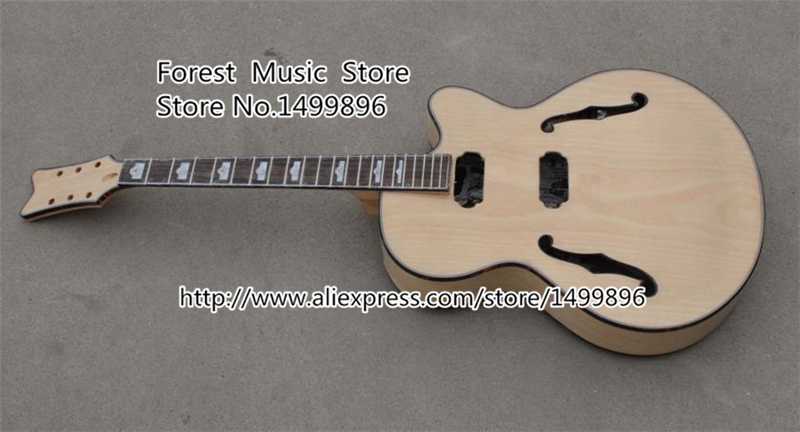 Unfinished Electric China Guitar Hollow Body Guitar Kits Left Handed Custom Available In Stock free shipping new unfinished left hand electric guitar in natural color with mahogany body diy your guitar foam box f 1195