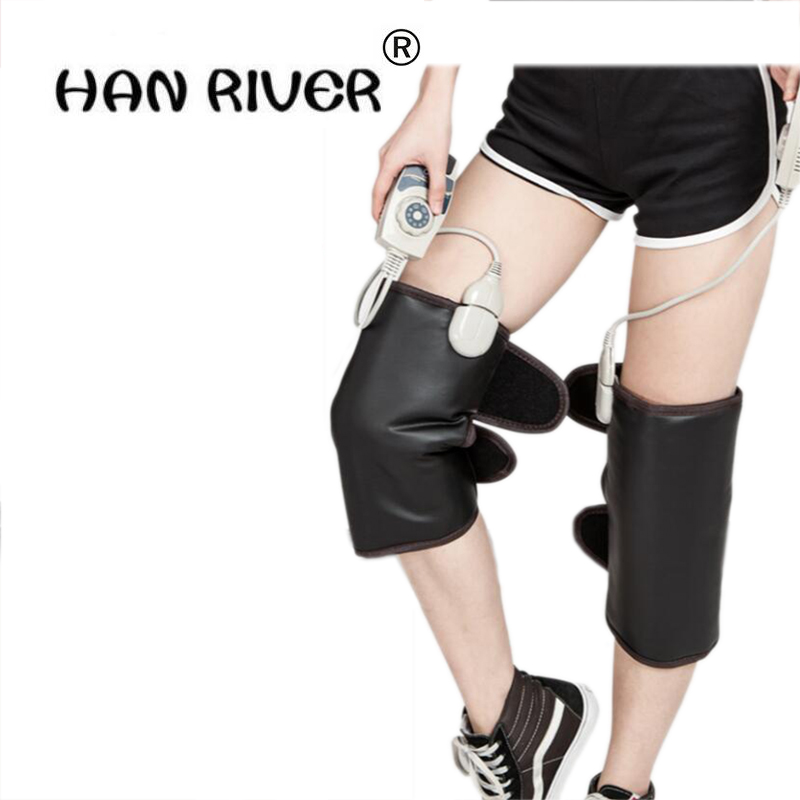 1 pcs Germanium heating the knee Far-infrared germanium leg protection leg pain and old age thermal health care therapy knee thermal zipper fly straight leg jagger jeans