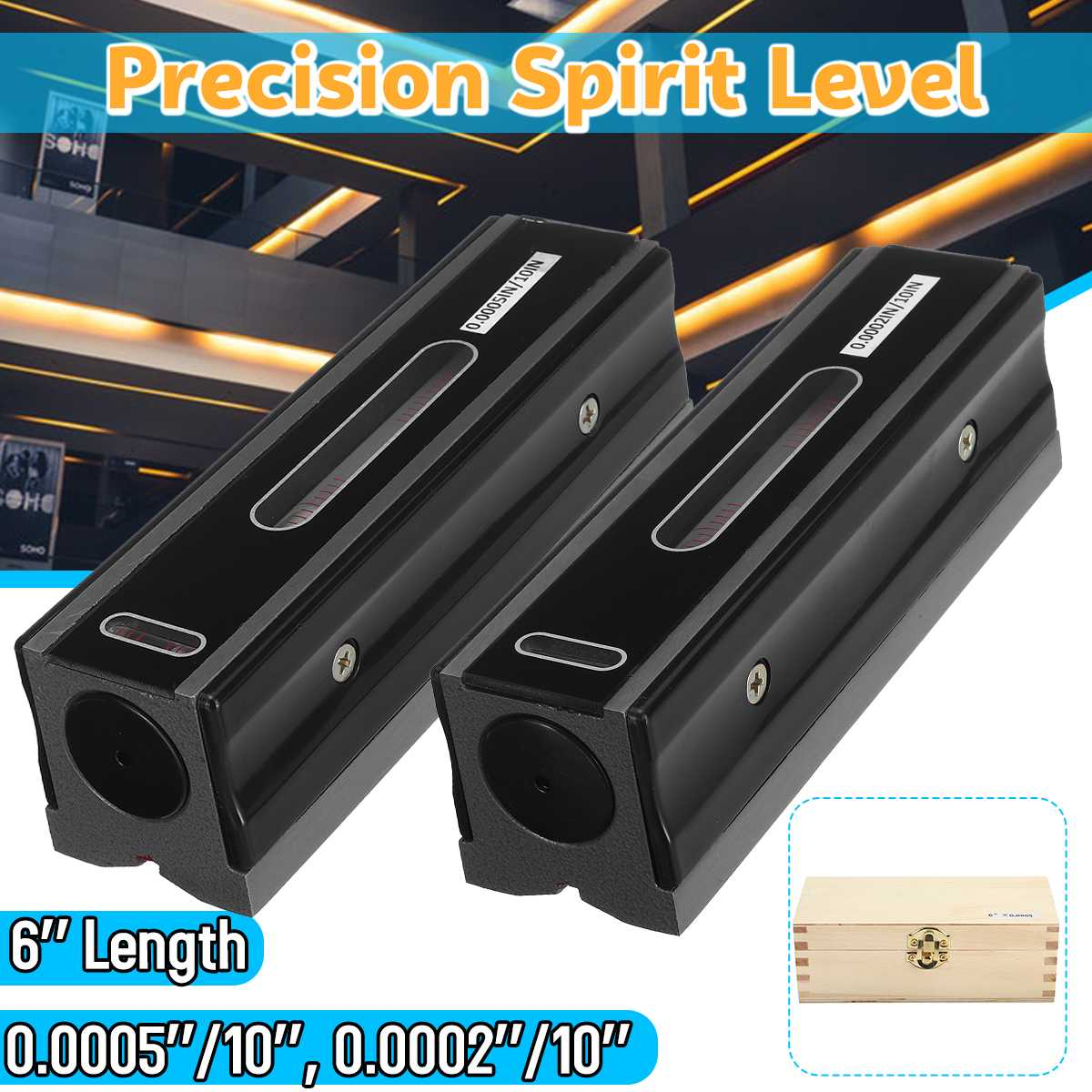 0.0005/.0002 Master Precisionn Level Graduation Bar Level 6 152mm Measurement Leveler Horizontal Machine Bearing Ruler Lever0.0005/.0002 Master Precisionn Level Graduation Bar Level 6 152mm Measurement Leveler Horizontal Machine Bearing Ruler Lever
