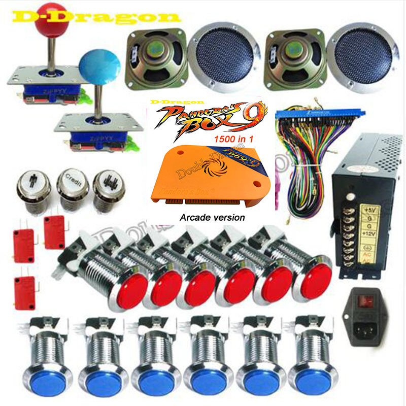 Pandora Box 4S DIY Arcade Bundles Kits Parts With Power Supply Jamma Harness Joystick Push Button Upgrade to Box 9 1500 for free-in Coin Operated Games from Sports & Entertainment    3