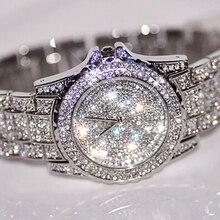 2016 Venta Caliente de Las Mujeres Relojes Reloj de Vestir de Alta Calidad de Diamantes de La Moda de Lujo Rhinestone de Señora Reloj del Cuarzo Dropshipping