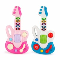 Cartoon Music Instrument Guitar Toys Electronic Nursery Rhyme Musical Fun Light Music Baby Birthday Gifts Toys