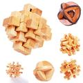 New Creative 3D Intelligence Wood Kong Ming Lock Puzzle Children Toy
