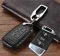 Автомобильный кожаный чехол для ключей  держатель для VW MK7 Tiguan Bora Golf R Passat Caddy Seat Altea Alhambra Ibiza для Skoda Octavia A5 A7 Kodiaq