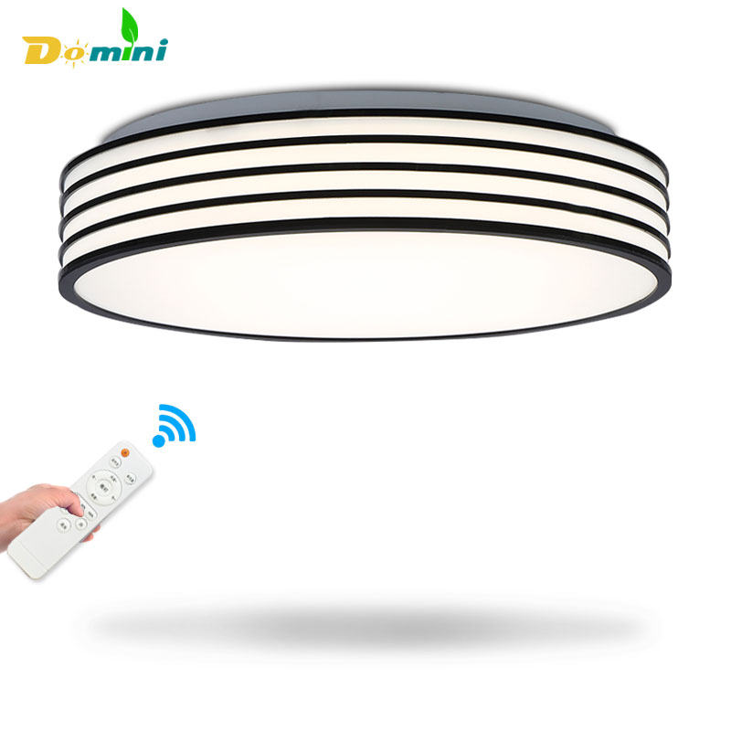 New Led Ceiling Light Black Round Lighting Remote Control LED Ceiling Lamps Surface Mounted Bedroom Living Room Fixtures 7706 surface mounted children fan lighting ceiling lamps bedroom decoration light e27 light source honeybee decoration ceiling light