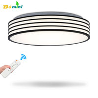 New Led Ceiling Light Black Round Lighting Remote Control LED Ceiling Lamps Surface Mounted Bedroom Living