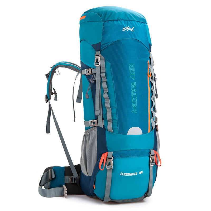 Quality Men and Women Outdoor Sports Backpack Large Capacity 70+5L Waterproof Anti Tear Bag Climbing Camping Riding Tourism Bags quality innovation bicycle infantry pack 14 6 inch waterproof and scratch resistant outdoor leisure men and women bike backpack