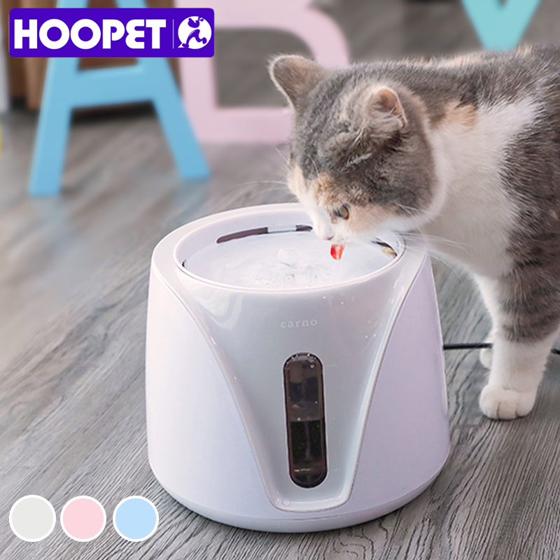HOOPET Automatic Cat Water Fountain For Pets Water Dispenser Large Spring Drinking Bowl Cat Feeder Drink Filter 2L
