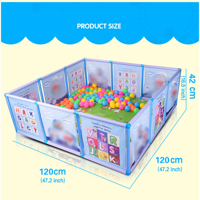 Cartoon Children Kids Plastic Play Fence Baby Safety Fence Pool Baby