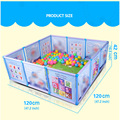 Cartoon Children Kids Plastic Play Fence Baby Safety Fence Pool Baby Game Toddler Crawling Crawl Safety/Pool Balls 100 Pcs 6CM