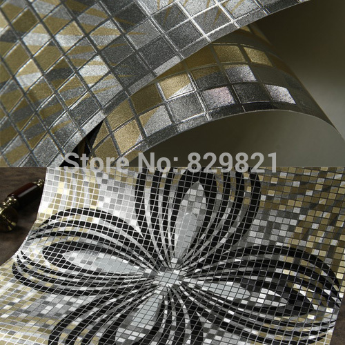 Designer Wallpaper Waterproof Gold Foil KTV Ceiling Mosaic Wall Paper Kitchen Living Room Home Decor 10m papel de parede Rolo designer wallpaper waterproof gold foil ktv ceiling mosaic wall paper kitchen living room home decor 10m papel de parede rolo