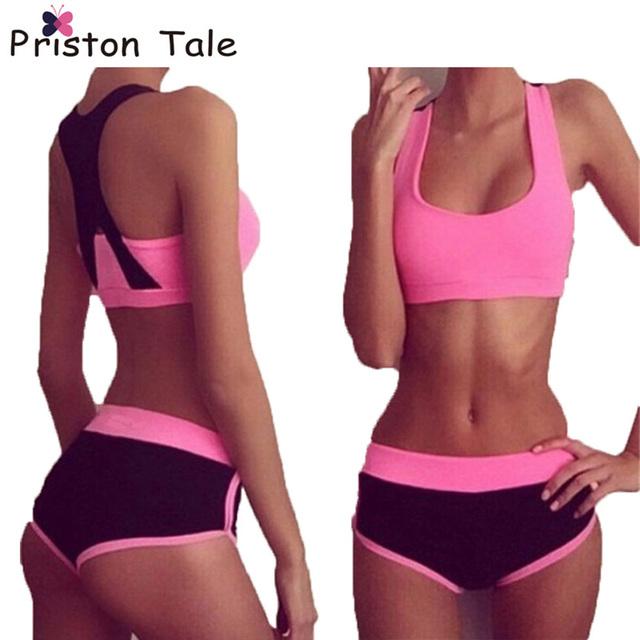 Gym Stretch Sports Bra + Pants Set Fitness Pilates Sport Suit