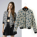 2016 Autumn new style women vintage floral print short jackets, ladies fashion outerwear loose casual cotton-padded coat