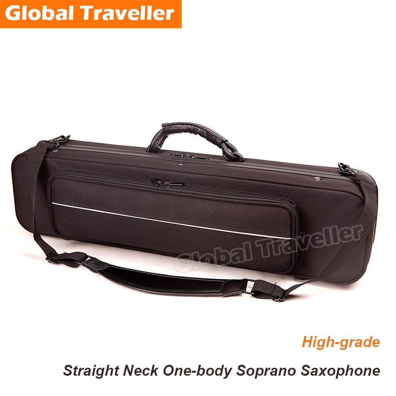 Integral straight pipe Soprano Sax Case Water-proof Soft Lightweight Soprano Sax Backpack Soprano Saxophone Bag new luxury professional portable durable tenor saxophone bag b sax gig case waterproof luxury backpack soft padded strap thicker