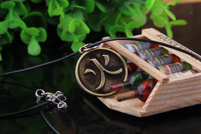 Bronze Naruto Characters Pendant Necklaces