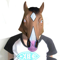Latex Animal Full Face Horse Head Mask For Halloween Party Costume Masquerade