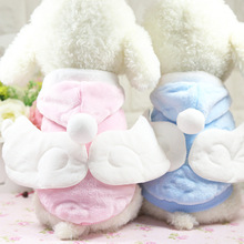 Couple Angel Wings Christmas Dog Clothes For Small Dogs Winter Jacket French Bulldog Jacket Funny Outfit Chihuahua Pet Clothes cartoon funny christmas dog clothes for small dogs winter coat french bulldog jacket chihuahua shih tzu outfit puppy pet clothes