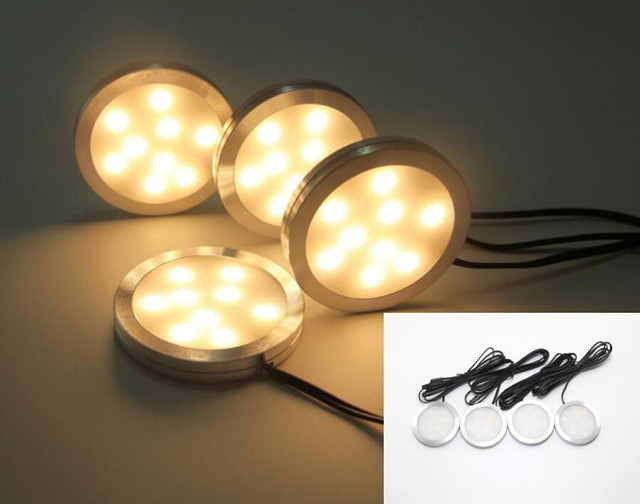 Under cabinet led puck lights downlight spotlights rf remote control under cabinet led puck lights downlight spotlights rf remote control driver dimmable for kitchen closet aloadofball Choice Image